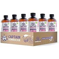Captain Kombucha California Raspberry, Té de burbuja - 12 de 400 ml. (Total 4800 ml.)