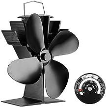 Ventilador de 4 aspas para estufa de leña o chimenea - Respetuoso con el medio ambiente