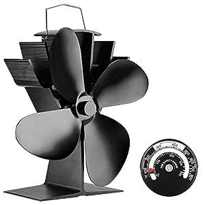 Ventilatore per camini a legna, funzionamento senza corrente, 4 Elica - Sonyabecca