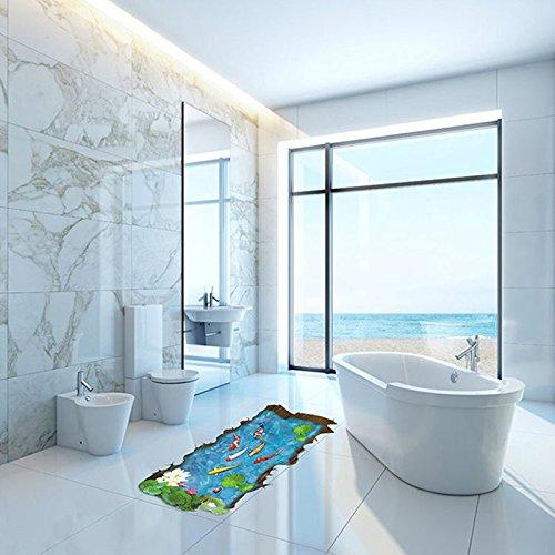 Wapel 3D Dreidimensionale Wandaufklebern Kreative Wohnungseinrichtung Aufkleber Bad Wohnzimmer Fußboden Wasserdicht Dekorative Wandmalerei 60 * 90 cm.