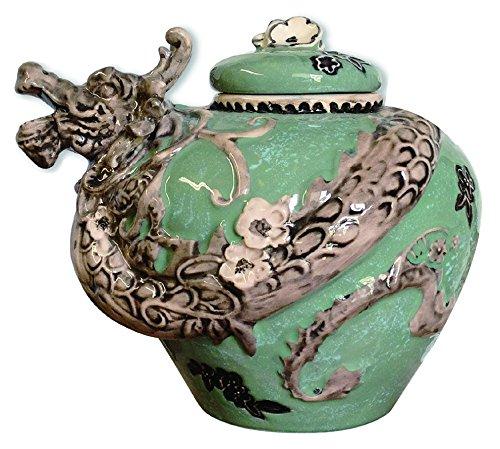 Blue Sky Keramik Cookie Jar, Keramik, Grün (Grünes Glas Cookie Jar)