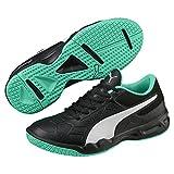 Puma Tenaz Kinder Indoor Teamsport Schuhe Black-White-Green 2.5