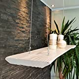 LED Pendelleuchte Hängelampe Hängeleuchte A+ Holz Massivholz Weiß 120 x 20cm Shabby Chic Vintage