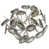 Cnmade spazzola ruota filo di acciaio lucidatura coppa spazzole abrasive per smerigliatrice Dremel Rotary Tools 2.35mm pezzi