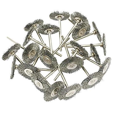 Cnmade Brosse de roue de fil d'acier polissage abrasifs de coupe brosses pour outils rotatifs Dremel Grinder 2.35mm 20pcs