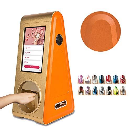 Digital Auto Nagel Kunst Drucker Über 1000 Muster Intelligent Nagel Malerei Maschine mit 10,1 Zoll Berühren Bildschirm zum Musik hören, Sehen Film, Werbung Abspielen, 20 Sekunden Drucken ein Nagel (Digital-nagel-kunst-maschine)