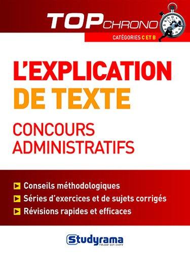 L'explication de texte, concours administratifs