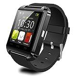 K-DD Bluetooth Smart Watch Android ve iOS akıllı telefonlar için, K–DD u8SmartWatch Fitness Tracker bileklik uzaktan kumanda ile adım sayacı/müzik çalar/çağrı Hatırlatıcısı/kamera Kadın ve Erkek için, Smart sağlık için kol saati