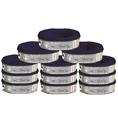 Angelcare Nachfüllkassetten für Windeleimer Dress-Up 12 Stück