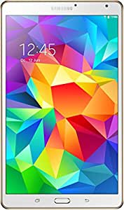 """Samsung Galaxy Tab S Tablette tactile 8,4"""" (21,34 cm) (16 Go, Android, 1 Port USB 2.0,Wi-Fi, 1 Prise jack, Blanc) - Clavier Qwertz Allemand"""