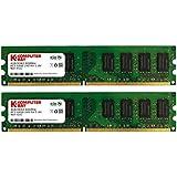 Komputerbay KB_8GBDDR2_2x4GB800 - Módulos de memoria 8GB (2x4GB) DDR2 DIMM (240 pines), 800Mhz PC2 6400 PC2 6300 CL5