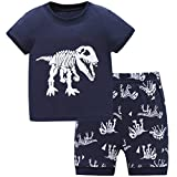 Hugbug Jungen Schlafanzug Kurz mit Dinosaurier 5 Jahre