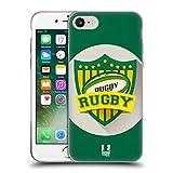 Head Case Designs Rugby Stemmi Del Calcio Cover Morbida In Gel Per Apple iPhone 7 / iPhone 8