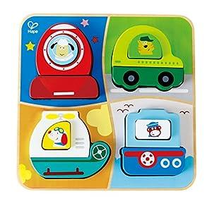 Hape- Puzzle Infantil encajable Aventura, Multicolor (Barrutoys E0437)