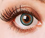 Lenti a contatto colorate blu senza spessore morbido naturale lenti ANNUALI Blu Lenti di colore a 0diottrie Queen blu turchese