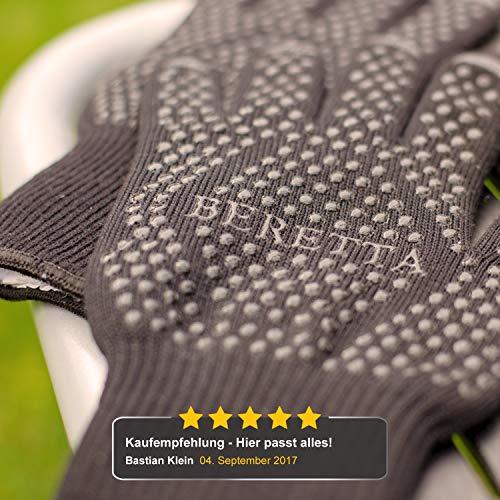 51rm8Dqt0GL - R-Beretta Hochwertige Grillhandschuhe hitzebeständig bis zu 500 °C - Inklusive E-Book - Ofenhandschuhe aus Kevlar-Nomex Fasern – Kaminhandschuhe extra Lang