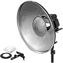 "'Beauty Dish Plata Reflector flash de cámara Flash 42 ""L Forma de Flash dispositivo de soporte Retratos. weiwa"""