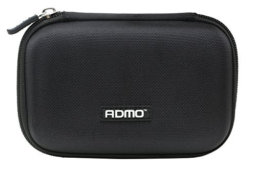 "ADMO 2.5"" Hard Drive Disk EVA Case Bag ,HDD Protective Zipper Carrying Shell Case Cover Bag for 2.5 Inch Portable External Hard Drive Black"