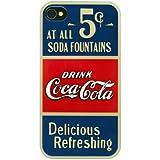 Coca Cola Old 5 cents Apple harte Hülle blau