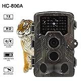 chengstore Trail Kamera 12MP 1080P Wildlife Jagd Kamera mit 120° Weitwinkel, Wasserdicht Jagd Pfadfinder Cam für Wildlife Überwachung, Überwachungskamera, Home Garten Sicherheit, a, 135mm * 90mm * 76 mm