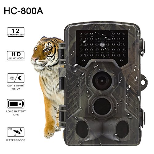 """Favourall Wildkamera mit bewegungsmelder 16MP 1080P, Jagdkamera 120°Breite Vision Infrarote 20m Nachtsicht 2.4\"""" LCD Outdoor Überwachungskamera Sicherheit Überwachungs Kamera"""