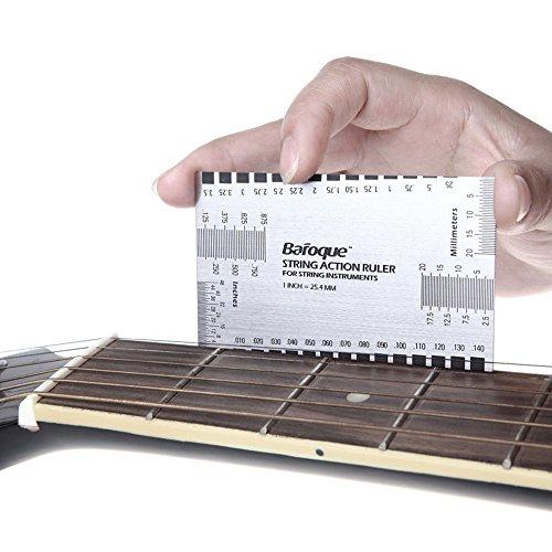 fenrad Acciaio Inossidabile String Azione Righello Strumento di Gauge Strumento Sistema di Misurazione per Luthier Chitarra Basso Mandolino Banjo