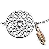 Engelsrufer Traumfänger Armband für Damen bicolor teilrosévergoldetes 925er-Sterlingsilber Länge 16 cm + 2 cm