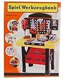 DIY 45-tlg Spiel Werkzeugbank mit Bohrmaschine, Schraubblock, Werkzeug und Zubehör