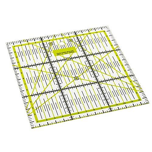 Loveinwinter regolo universale in acrilico plastica per patchwork righello da sarto trasparente acrilico per patchwork lavori di cucito e sartoria