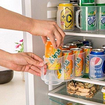 Caja de almacenamiento para frigor/ífico bebidas puede latas que ahorra espacio