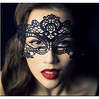 AcmeBuy (TM) 1 Pc Schwarz SE-XY Dame Spitze-Partei-Masken, Ausschnitt Augenmasken f¨¹r Maskerade-Party-Fancy Nachtclub-Partei-Weihnachts Adult Games
