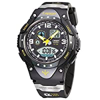 Men's watches/100u.s. waterproofing,outdoor sports,running,countdown,luminous,alarm clock,multifunctional electronic watches-B