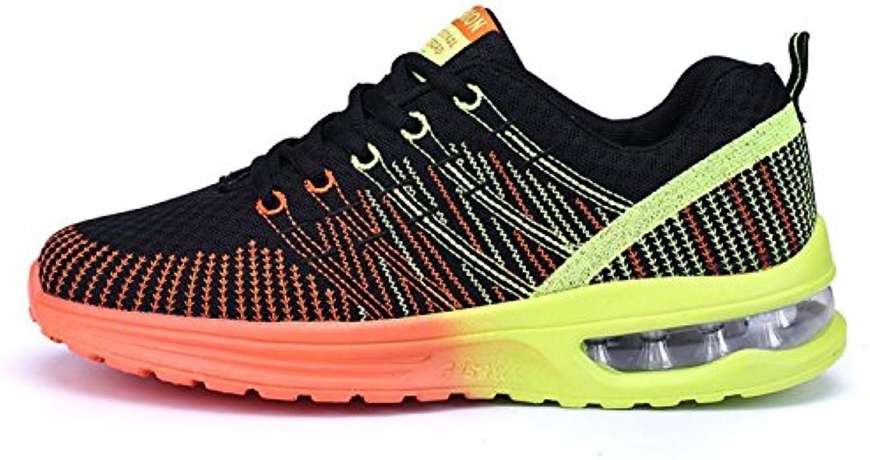 Zapatos de Running Para Hombre Zapatillas Deportivo Outdoor Calzado Asfalto Sneakers Negro Naranja 42