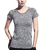 Dealikee Femmes Manches Courtes T Shirt...