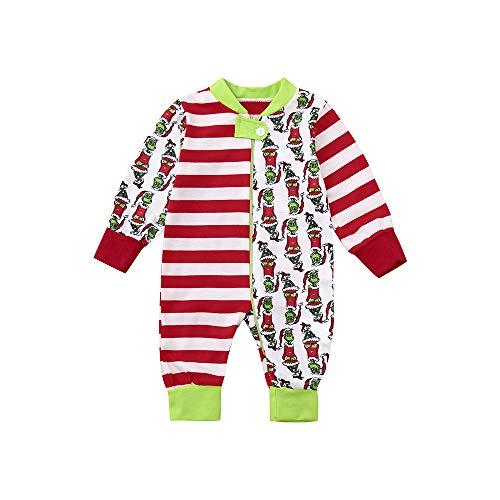 cinnamou Pijama De Navidad Conjunto De Pijama Familiar Pajamas Estampado De Dibujos Animados Tops + Pantalones para NiñOs Mamá Papá Mameluco De Bebé Monos A Rayas Ropa De Noche