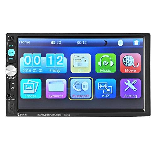 Wav Ogg Converter (Lacaca Bluetooth-MP5-Player mit 17,8 cm (7 Zoll) HD-Touchscreen fürs Auto, MP5-Player, unterstützt FM/SD/USB/AUX-Eingänge sowie Freisprechfunktion, Fernbedienung)