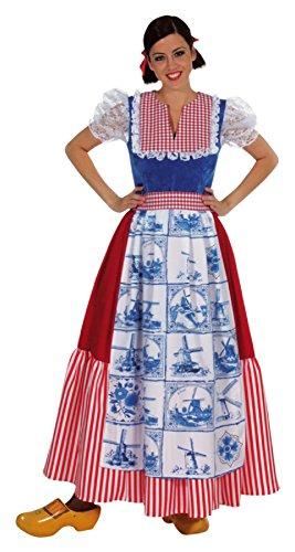 narrenkiste M210136-L Damen Holländerin Kleid lang Holandkostüm - Holland Kostüm