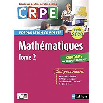 Mathématiques - Tome 2 - Ecrit 2020 - Préparation complète - CRPE (2)
