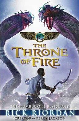 Book cover for The Throne of Fire