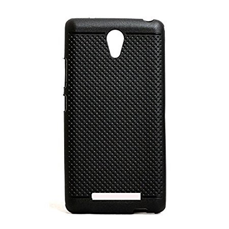Premium Dotted Black Rubberised Soft Back Case Skin Cover For Micromax Canvas 6 Pro E484