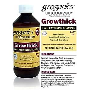 GROGANICS growthick hair fattening shampoo 8oz by Groganics