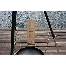 Flammlachs Bretter Set 2teilig inkl Befestigungsmaterial Holz Fisch-Filethalter