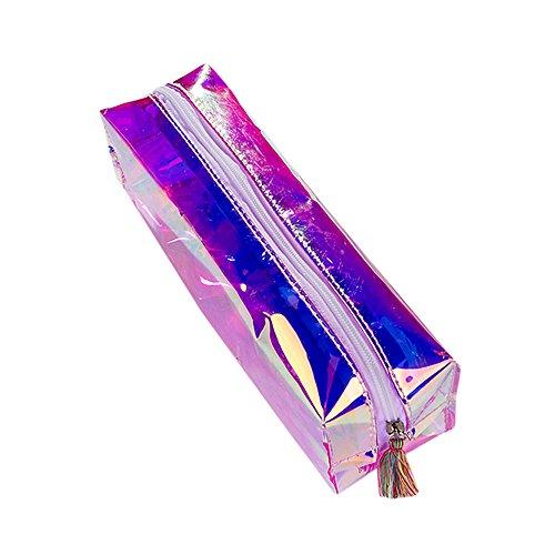 Bleistift Stift Tasche kinghard Colorful Transparent Case Kosmetiktasche Make-up Tasche Quaste Bleistifte Box mehrfarbig