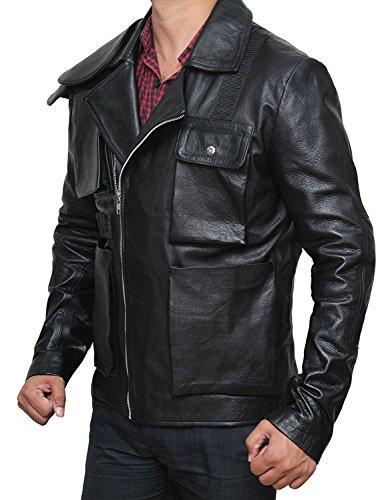 Tom Hardy Mad Max Rockatansky Real Leather Black Jacket - Tom Hardy Mad Max Rockatansky Veste en cuir véritable en cuir noir Noir