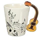 Guitarra duro villano 220ml taza de cerámica/taza/café de té de oficina en casa vaso regalo único