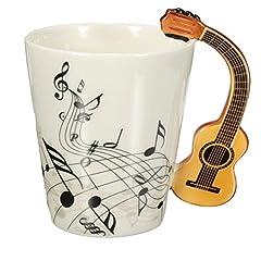 Idea Regalo - Coperchio Villain 220ml chitarra in ceramica/tazza/tazza di caffè tè casa ufficio Drinkware regalo unico