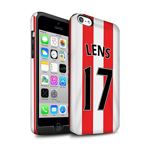 Offiziell Sunderland AFC Hülle / Glanz Harten Stoßfest Case für Apple iPhone 5C / Watmore Muster / SAFC Trikot Home 15/16 Kollektion Lens