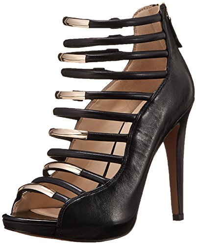 Nine West Evangelist Cuir Sandales Black