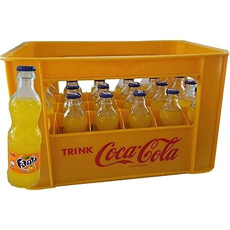 24 x Fanta Orange 0 2L Caja Original Botella de vidrio