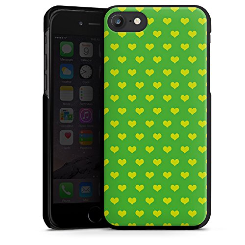 Apple iPhone X Silikon Hülle Case Schutzhülle Herzchen Grün Polka Hard Case schwarz